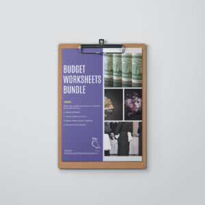 Budget Worksheets Bundle. The Enlightened Creative.