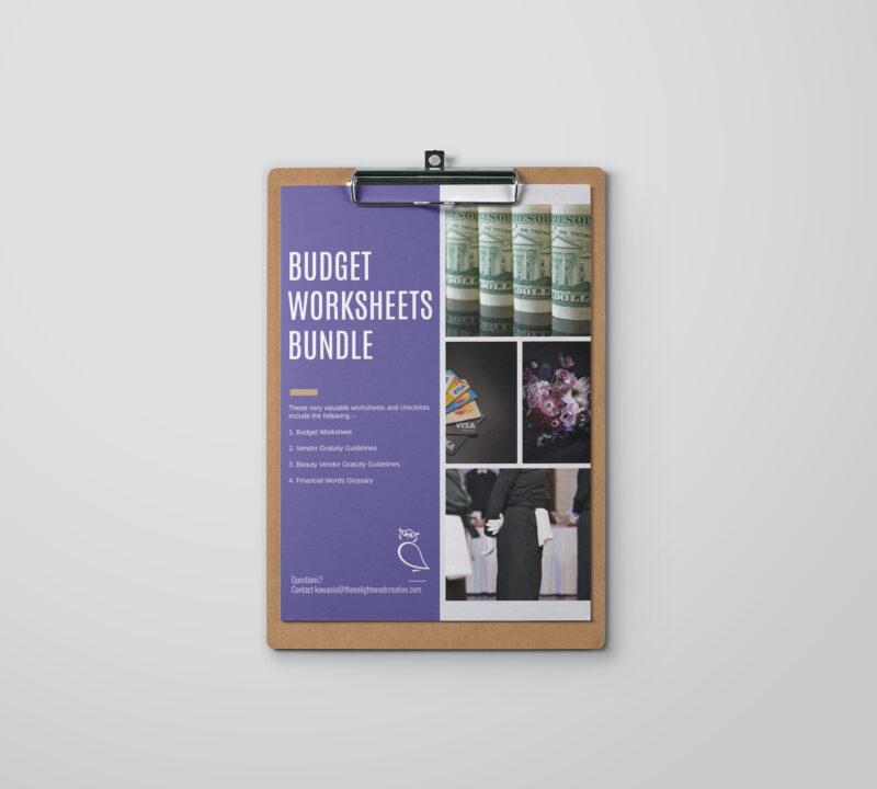 Budget Worksheets Bundle. The Enlightened Creative.