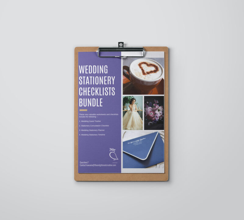 Wedding Stationery Checklists Bundle. The Enlightened Creative.