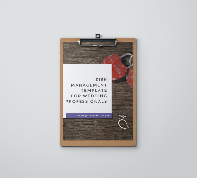 Risk Management Template for Wedding Planning. The Enlightened Creative.